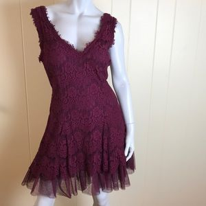 Betsy and Adam  Mini Dress in Cranberry